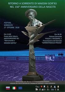 Un monumento per ricordare il soggiorno di Gor'kij a Sorrento