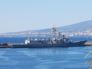 La fregata Numancia della Marina Spagnola nel porto stabiese