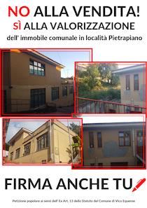 Una petizione contro la vendita della scuola di Pietrapiano