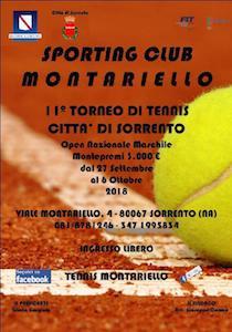 """Verso la finale il torneo di tennis """"Città di Sorrento"""""""