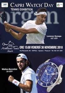 Le promesse del tennis incontrano i campioni al Capri Watch Day