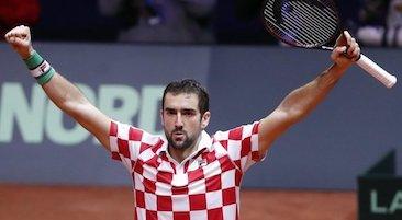 Marin Cilic portacolori di Capri Watch vince la Coppa Davis