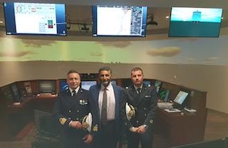 La Guardia Costiera in visita alla Msc House di Sant'Agnello