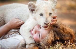 """Accensione dell'albero di piazza Tasso con """"Mia e il leone bianco"""""""