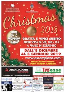 Al via il concorso natalizio dell'Ascom di Piano di Sorrento, premi per 15mila euro