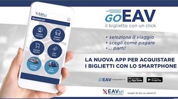 Da oggi i biglietti Eav si possono acquistare con l'app