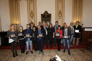 Antonino Siniscalchi ritira il Premio Landolfo – foto –