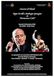 A Sorrento concerto di Peppe Servillo e Ambrogio Sparagna