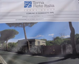 Sorrento: Nuova stazione elettrica e tutela ambientale
