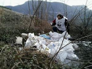 Discarica di amianto sul Monte Faito – foto –