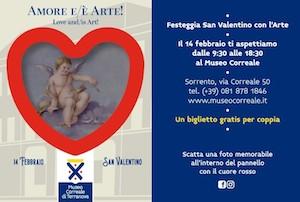 San Valentino, sconti e gadget per le coppie al Museo Correale