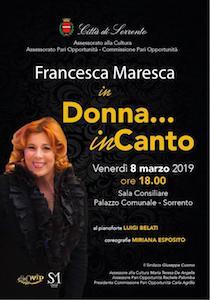 Festa della Donna, concerto di Francesca Maresca al Comune di Sorrento