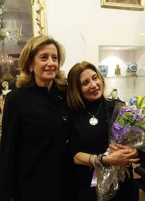 L'attrice Rosaria De Cicco ospite al Museo Correale di Sorrento