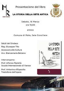 """A Meta presentazione del libro """"La storia della sete antica"""""""