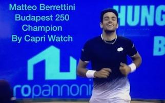 Capri Watch celebra Berrettini numero 37 del tennis mondiale