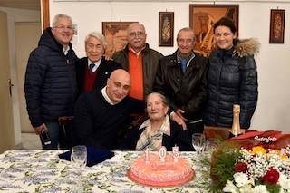 A Piano di Sorrento festa per due ultracentenari