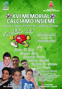 """Torna domani a Sorrento il memorial """"Calciamo Insieme"""""""