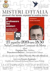 A Meta presentazione di due libri sui misteri d'Italia