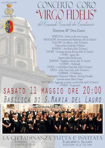 "A Meta il concerto del coro ""Virgo Fidelis"" dei carabinieri"