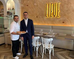 Il vicepremier Luigi Di Maio a pranzo a Sorrento