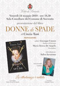 """A Sorrento presentazione del libro """"Donne di spade"""" di Cinzia Tani"""