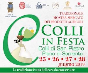 A Piano di Sorrento la mostra-mercato Colli in Festa 2019
