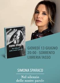 Simona Sparaco presenta alla Libreria Tasso di Sorrento il suo ultimo libro