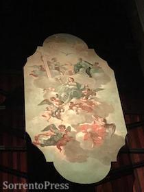 Restaurata tela del '700 della chiesa dell'Annunziata di Vico Equense – foto –