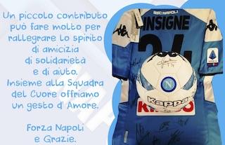 La squadra del Napoli aiuta una parrocchia di Massa Lubrense