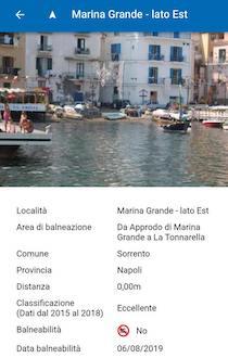 Niente divieto di balneazione alla Marina Grande di Sorrento, esposto Wwf