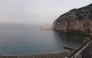 Frana a Punta Gradelle, paura tra i bagnanti di Meta