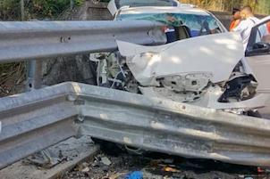 """Incidente sulla """"Basentana"""", feriti 4 ragazzi di Vico Equense"""