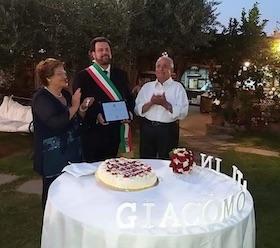 Nozze di diamante di Giacomo e Titina Scala, sorpresa dal sindaco di Vico Equense