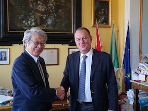 L'ambasciatore del Giappone in visita a Sorrento