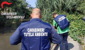 Scarichi illeciti nel Sarno, carabinieri del Noe sequestrano autolavaggio