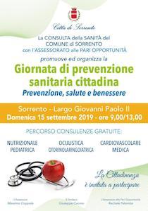 Prevenzione. Visite gratuite a Sorrento