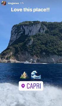 Anniversario di matrimonio tra Capri e Nerano per LeBron James e la moglie
