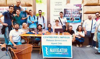 Arriva a Sorrento la protesta dei navigator della Campania