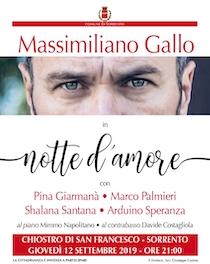 A Sorrento Notte d'amore con Massimiliano Gallo