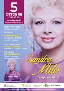 Sandra Milo presenta a Vico Equense il suo libro di poesie