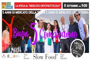 Festa per i 5 anni del Mercato della Terra Slow Food a Piano di Sorrento