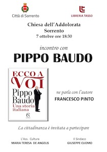Pippo Baudo presenta a Sorrento il suo libro