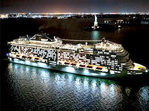 Msc Meraviglia la più grande nave a fare scalo a New York