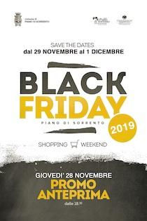 Nel weekend appuntamento con il Black Friday 2019 di Piano di Sorrento
