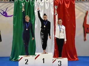 Ritmica, bronzo alle finali nazionali per un'atleta di Sorrento