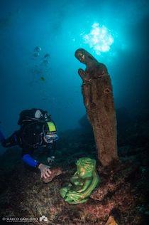 Cerimonia per la posa del Bambinello ai piedi della Madonnina del Vervece
