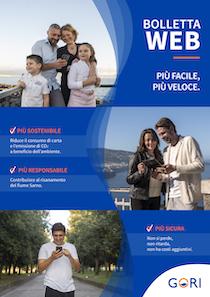 I servizi Gori su app. Attivando Bolletta Web donazioni al Cotugno
