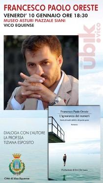 A Vico Equense presentazione dell'ultimo romanzo di Francesco Paolo Oreste