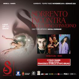 A Sorrento concerto di Di Bella, con Bruno, Cyrus e BamBi