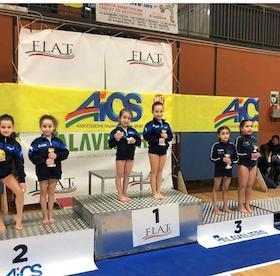 Grande avvio di stagione per le ginnaste dell'Asd revolution Yaya di Sant'Agnello